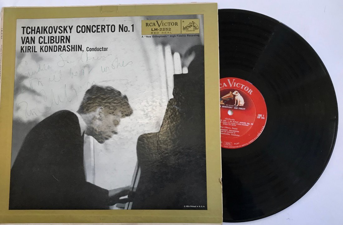 Van Cliburn Hand-Signed & Inscribed Record Album 1958