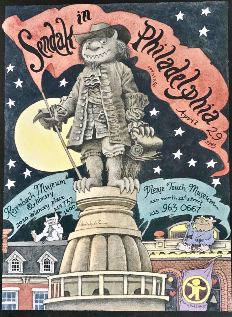 Sendak In Philadelphia, Artist Signed Poster 1995