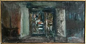 American Abstract Oil Painting, 1950's