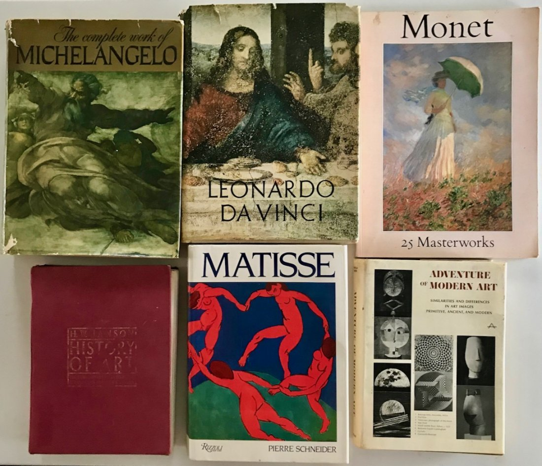 (6) Art Books: Matisse, Monet, DaVinci, et al