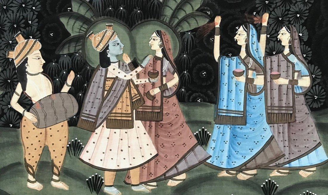 Indian School Figural Ceremonial Painting - 2