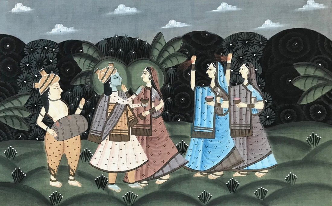 Indian School Figural Ceremonial Painting - 3