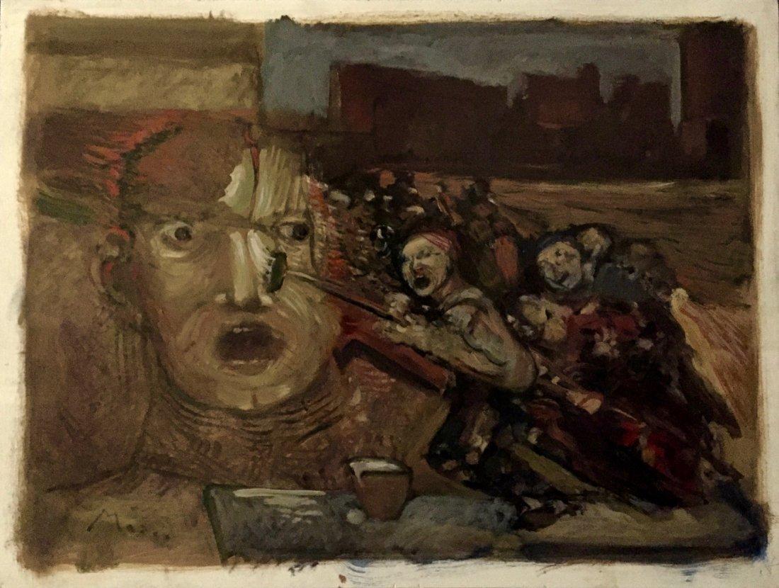 "Original Illustration Oil Painting ""Uprising"""