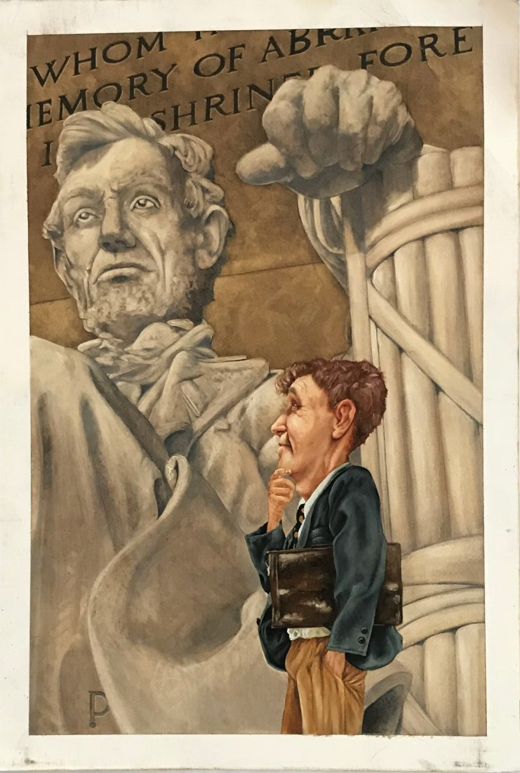 "Original Illustration Painting ""Abe Lincoln"" Z. Pullen"