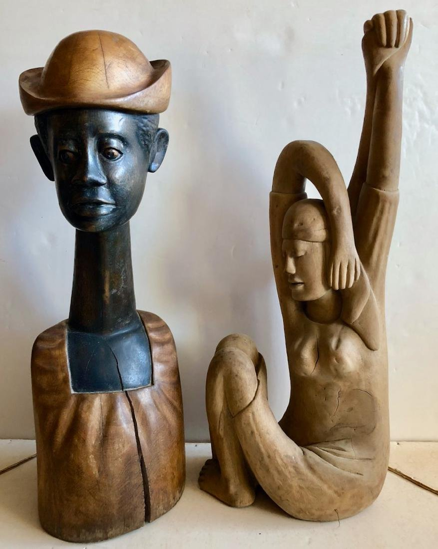 Mid-Century Haitian Carved Sculptures, 1960's