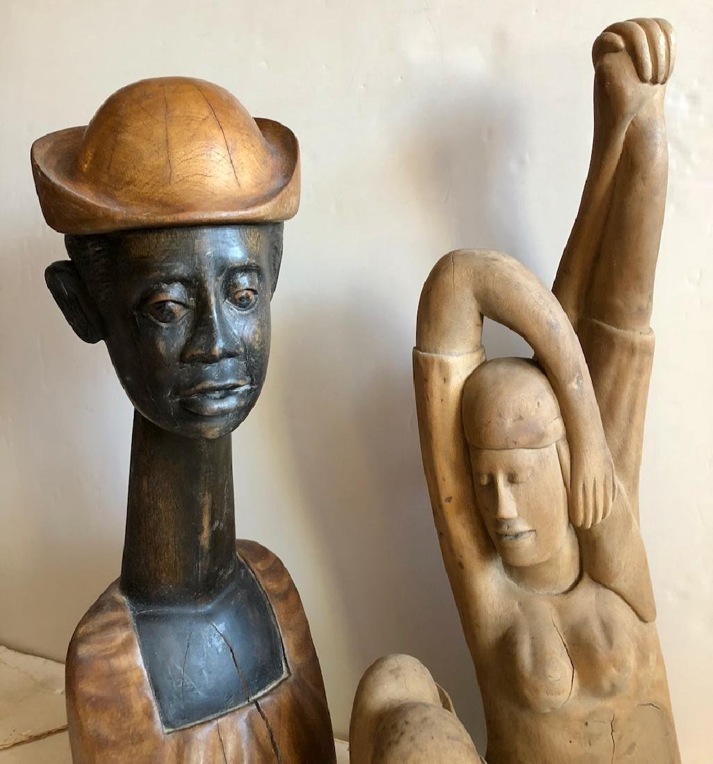 Mid-Century Haitian Carved Sculptures, 1960's - 2