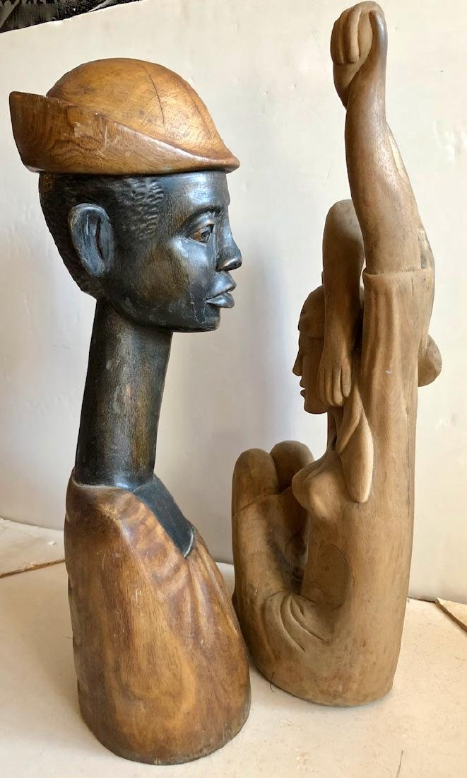 Mid-Century Haitian Carved Sculptures, 1960's - 5