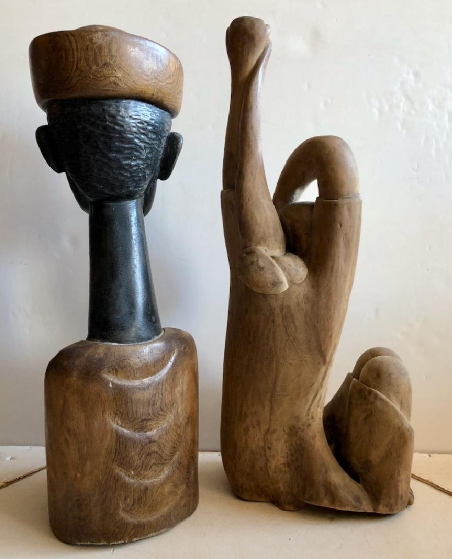 Mid-Century Haitian Carved Sculptures, 1960's - 7