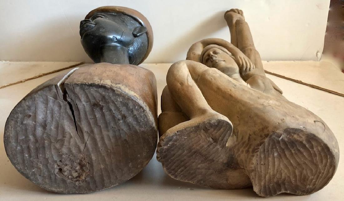 Mid-Century Haitian Carved Sculptures, 1960's - 8