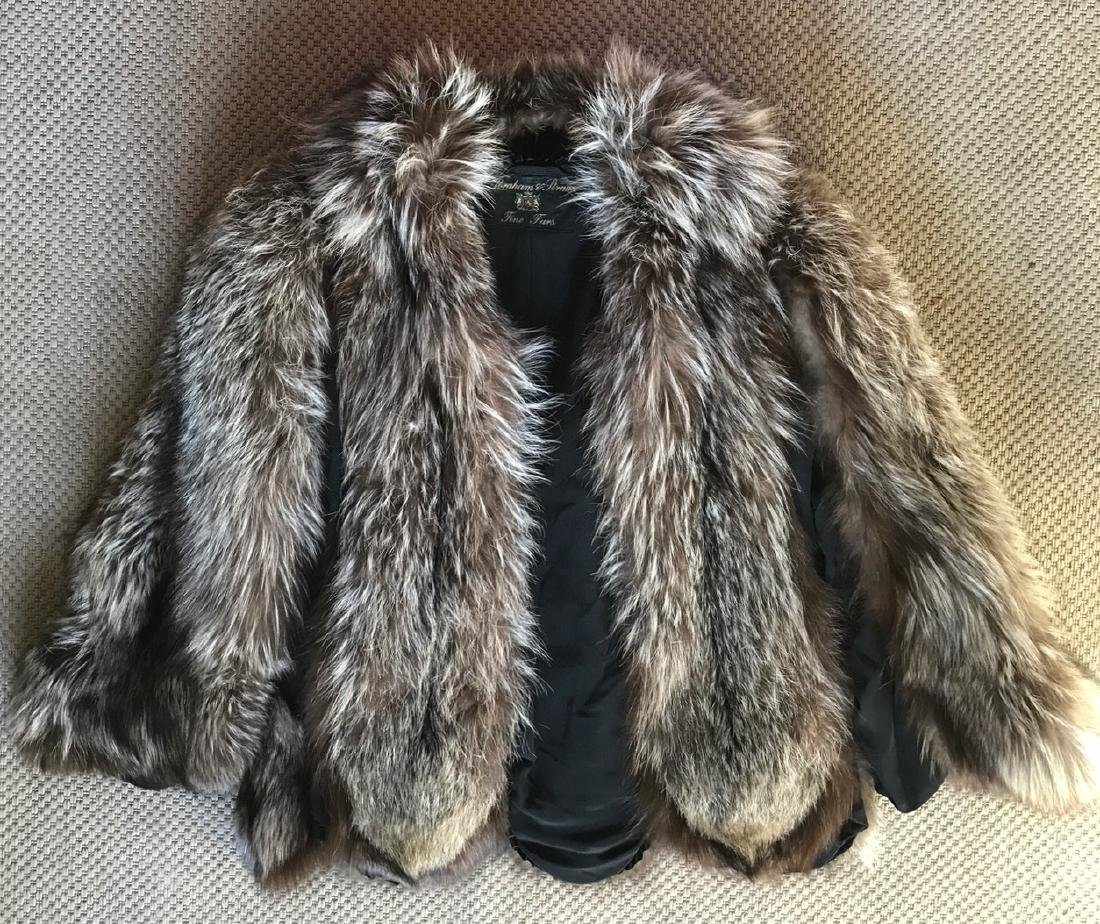 Vintage Estate Silver Fox Stroller Fur Coat
