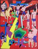 Outsider Pop Art Oil Painting, Ian K. MacDonald
