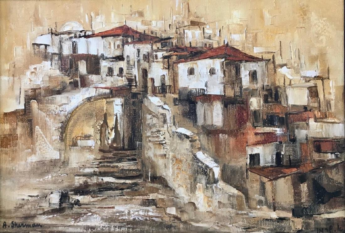 Ahuva Sherman, Oil Painting, City Of Jaffa, Israel