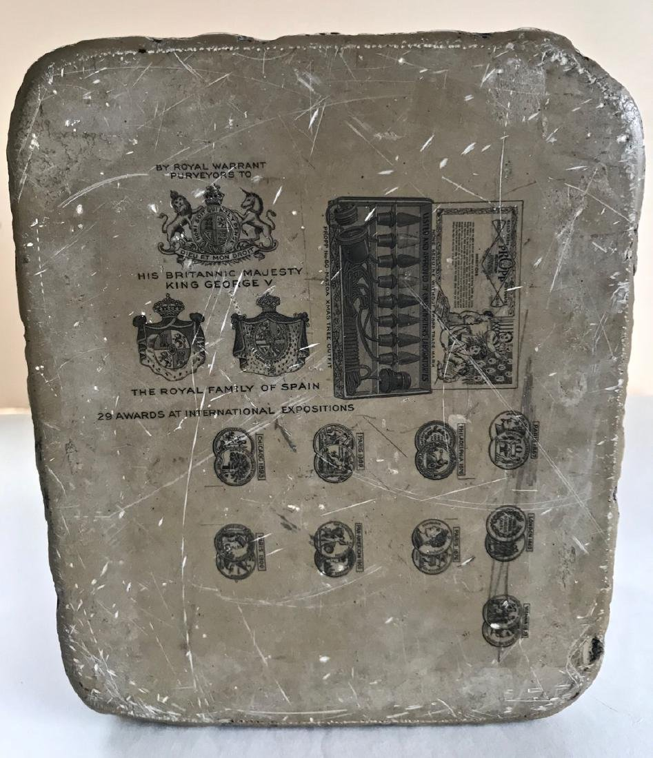 Antique Lithograph Limestone Block