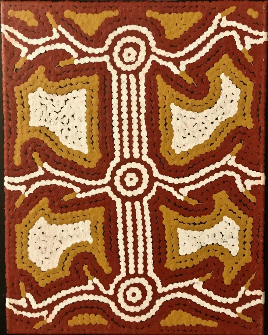 Australian Aboriginal Dot Painting, L. Naparrula Walker