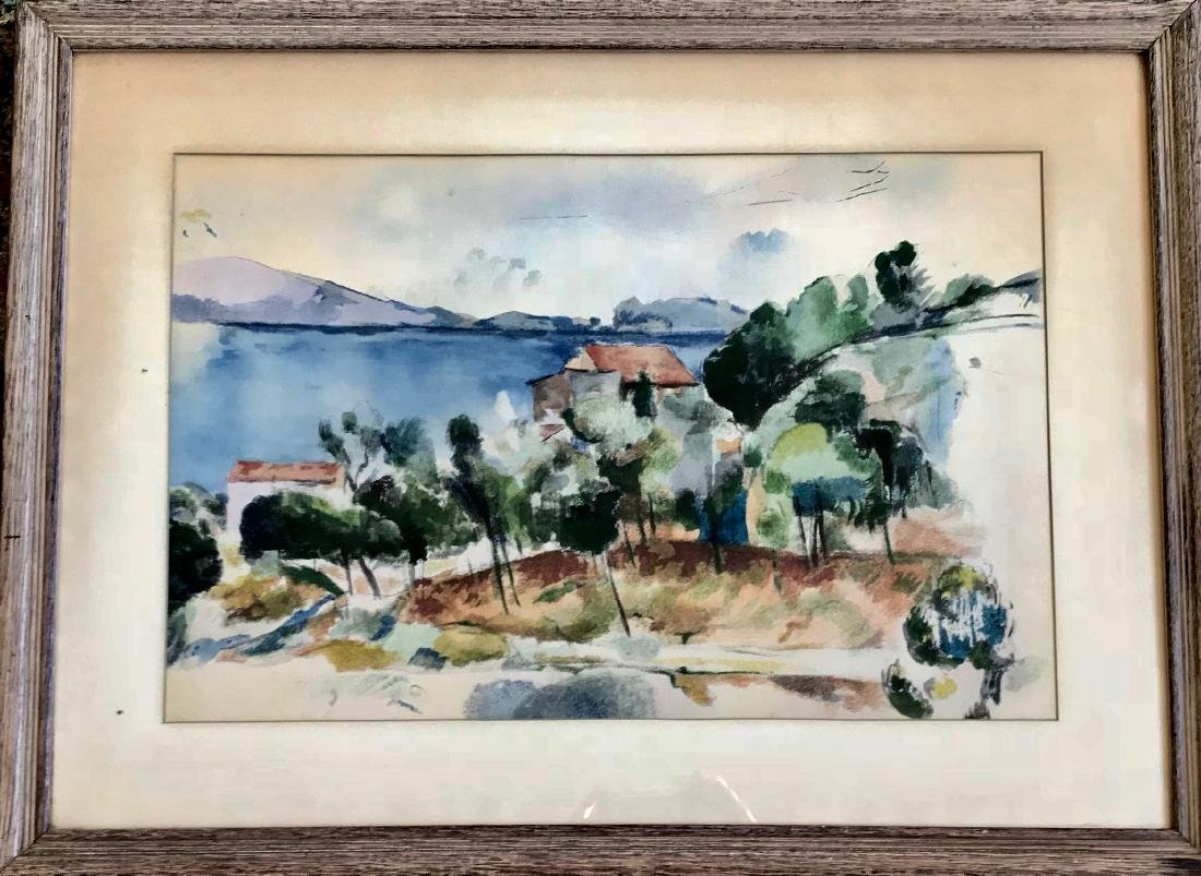 Hudson Valley Impressionist Landscape Painting, 1950's