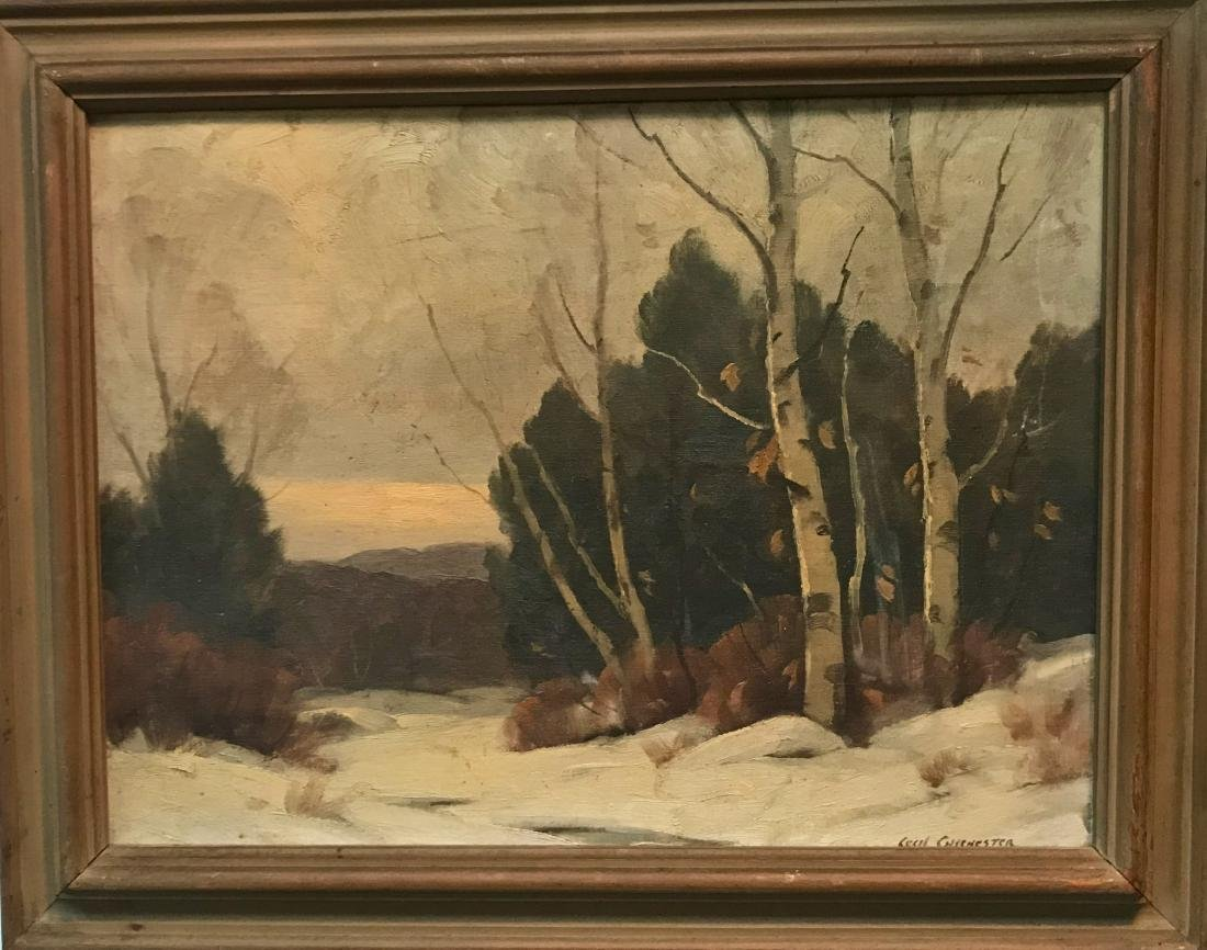Woodstock Winter Landscape Painting, Cecil Chichester