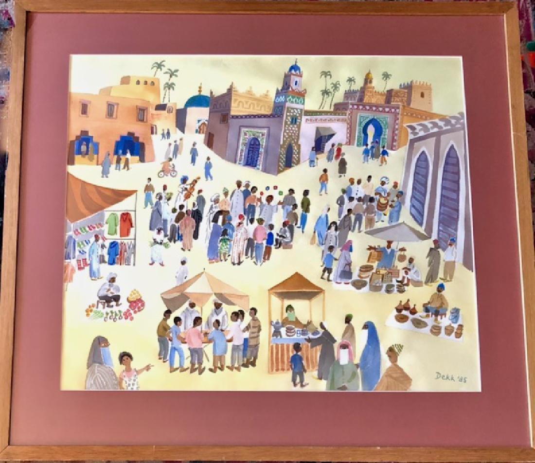 Dorrit Dekk Painting, Great Square of Marrakesh,Morocco