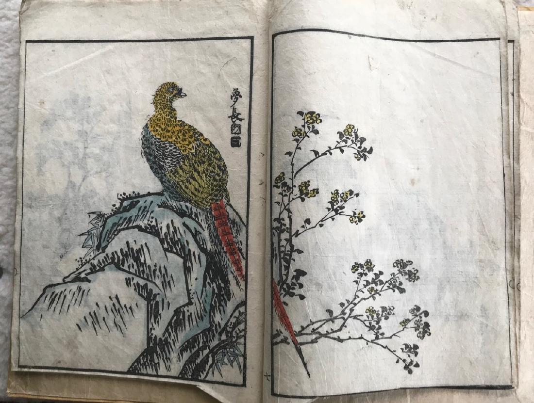 Japanese Album of Woodblock Prints, Birds & Animals