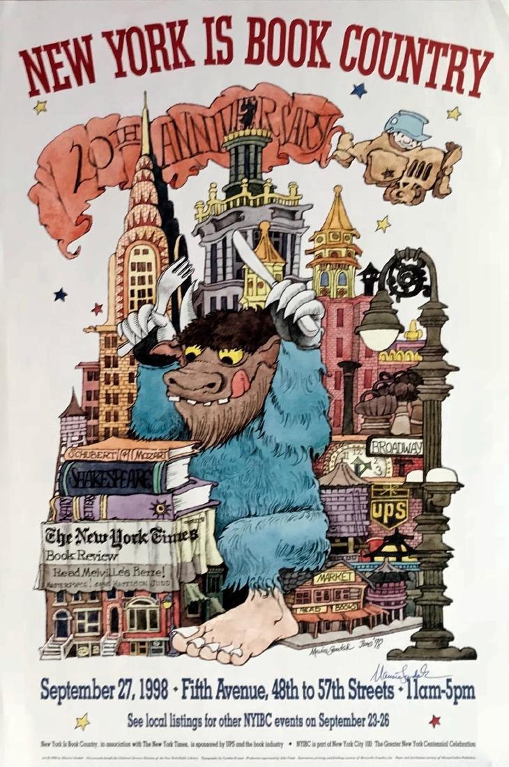 N.Y. Book Country 20th Anniversary, Signed Sendak 1998
