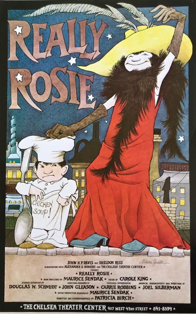 Really Rosie Illustrated and Hand-Signed Maurice Sendak