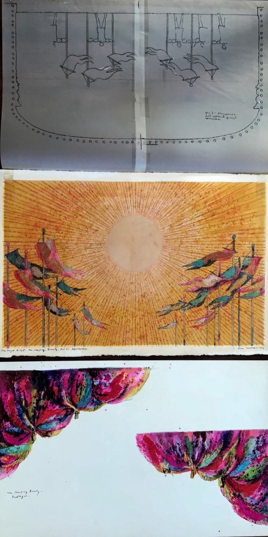 Beni Montresor Sleeping Beauty Ballet,Set Paintings