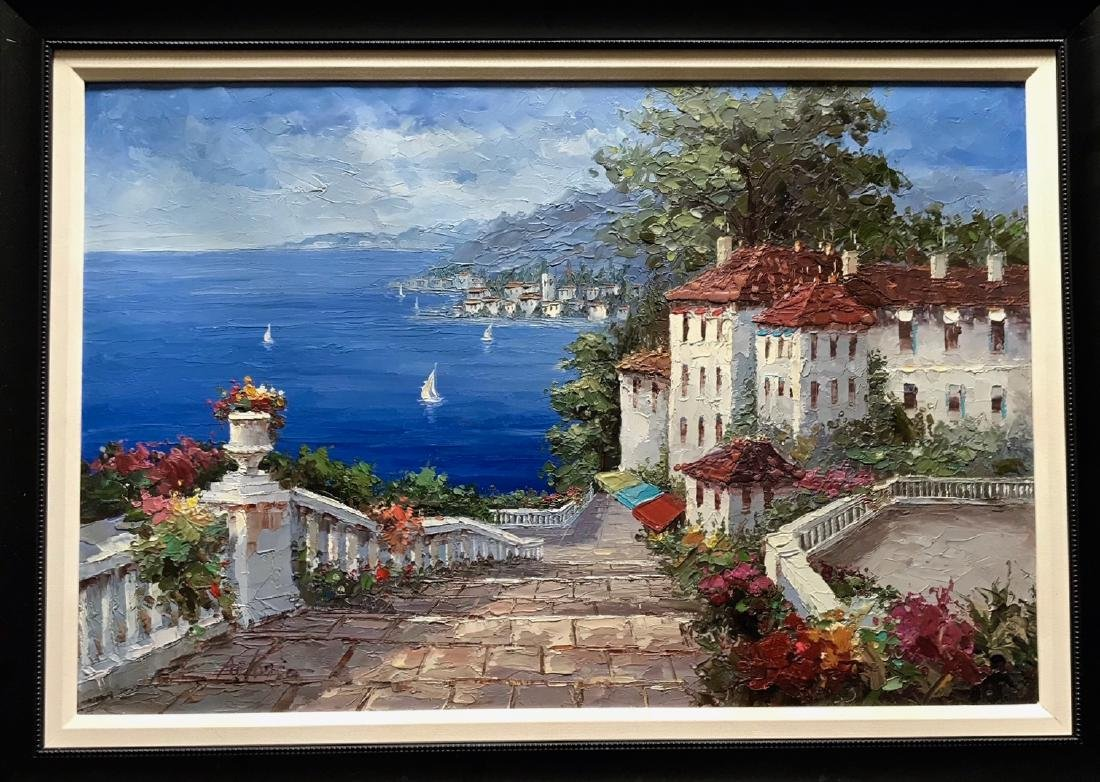 Mediterranean Coast Oil Painting, Antonio