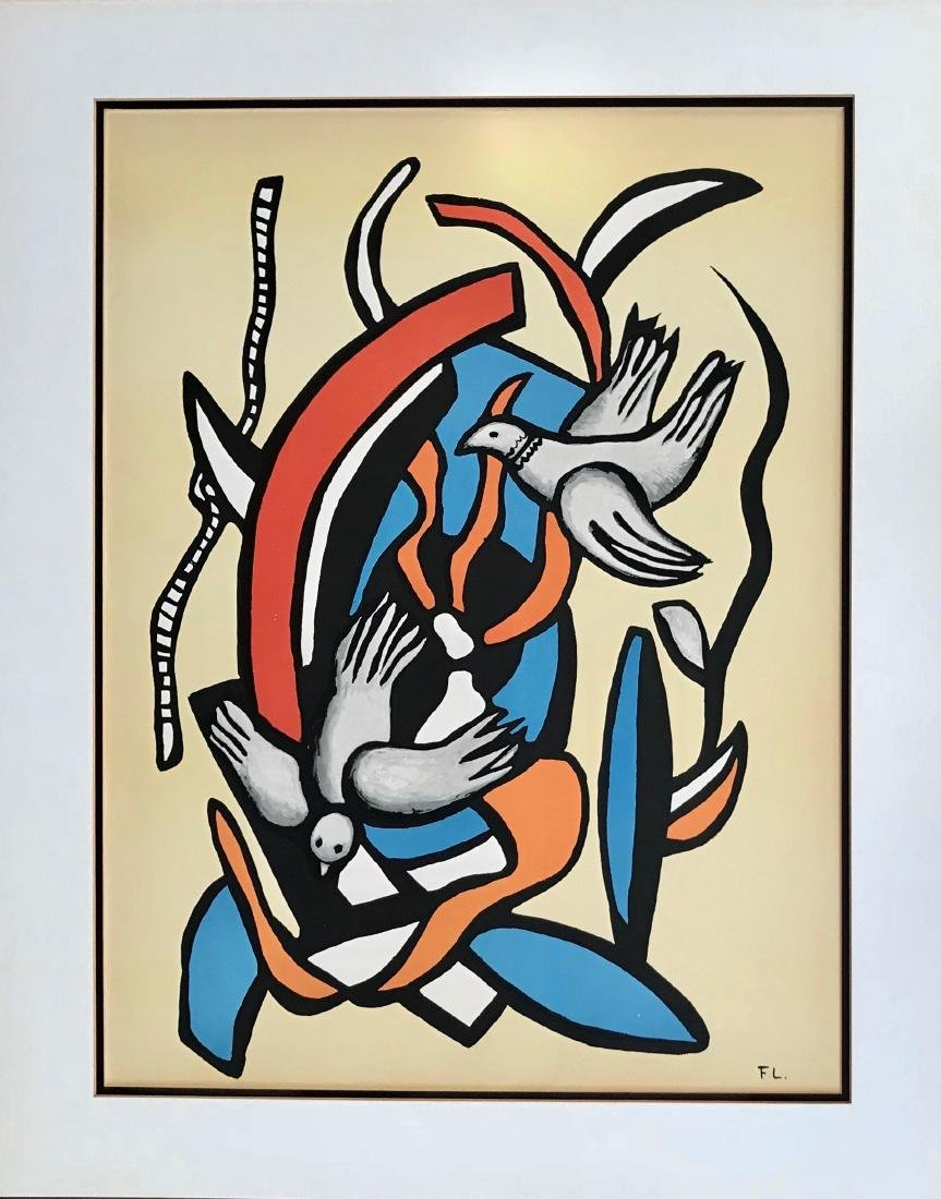 Fernand Leger (French,1881-1955) Cubist Lithograph