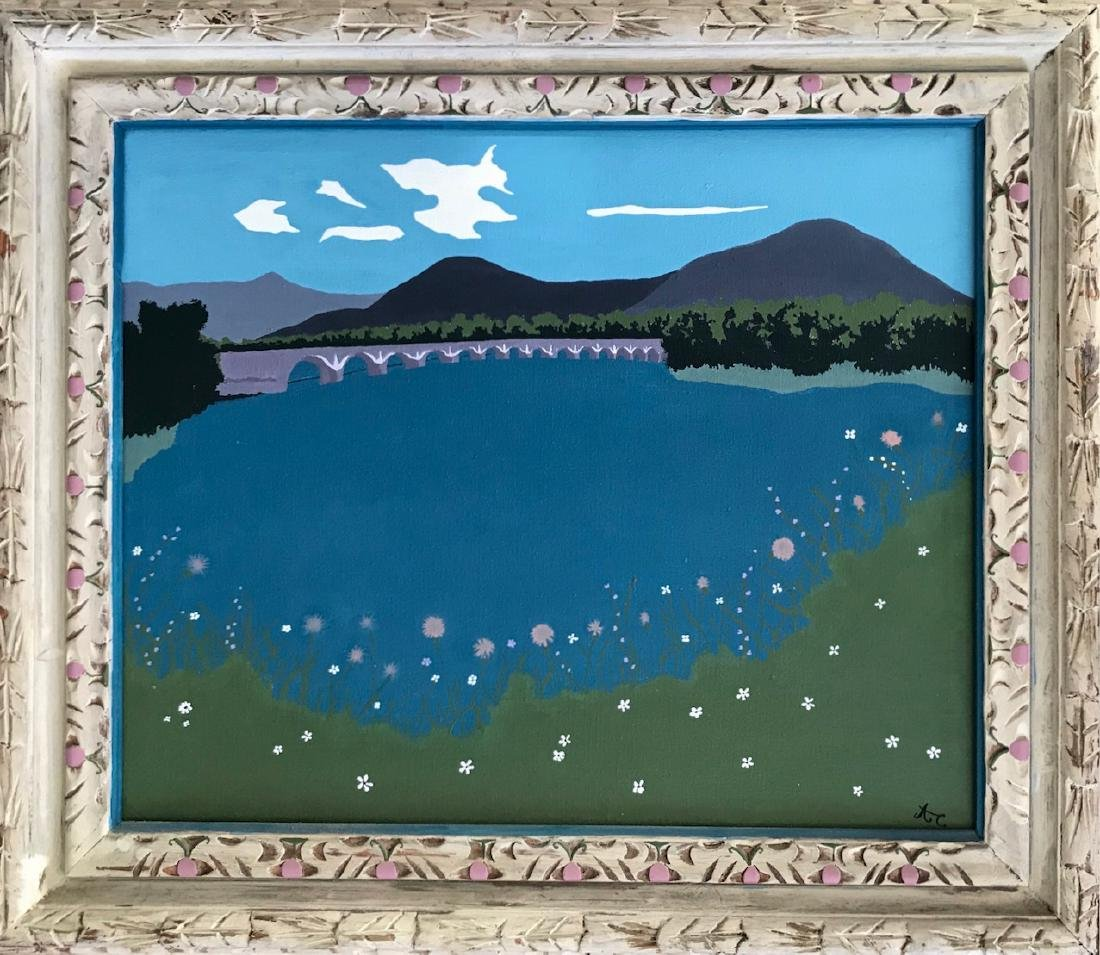 Catskill Mts. Ashokan Reservoir Painting, Chaves 1950's
