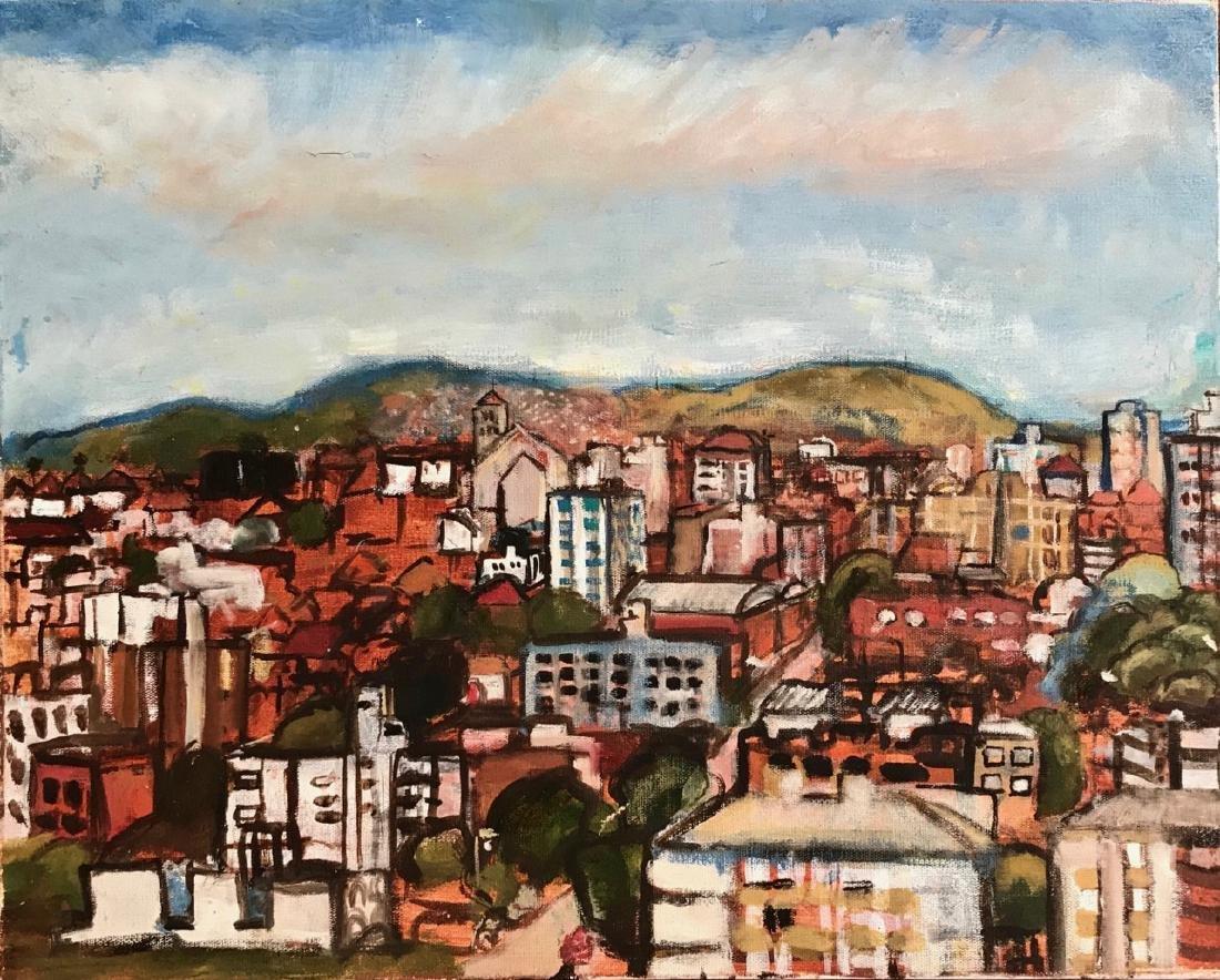 Cityscape Painting Brazil Porto Alegre, Steve Kennedy