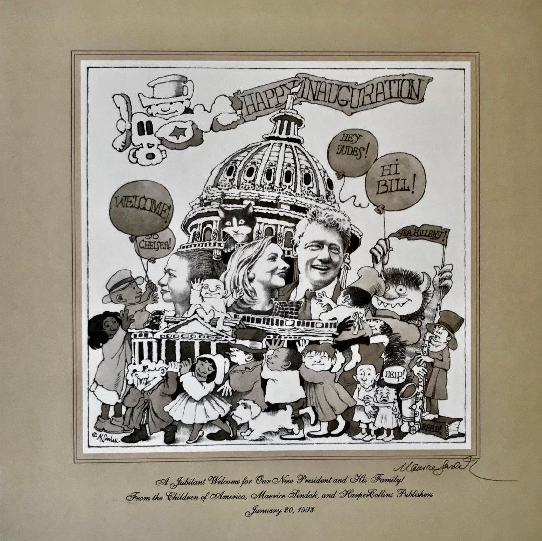 Clinton Inaugural Celebration, Maurice Sendak, Signed