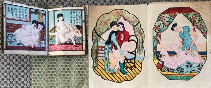 Chinese Erotic Shunga Pillow Books Early 1900's (2)