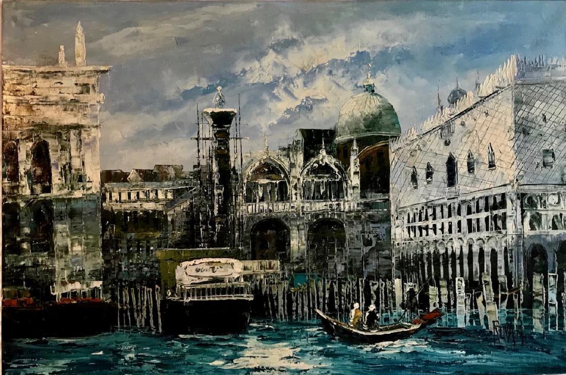 Orientalist Harbor Oil Painting, Ruvan