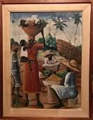 Haitian Folk Art Oil Painting Arnoix