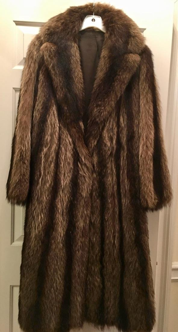 Raccoon Full Length Fur Coat