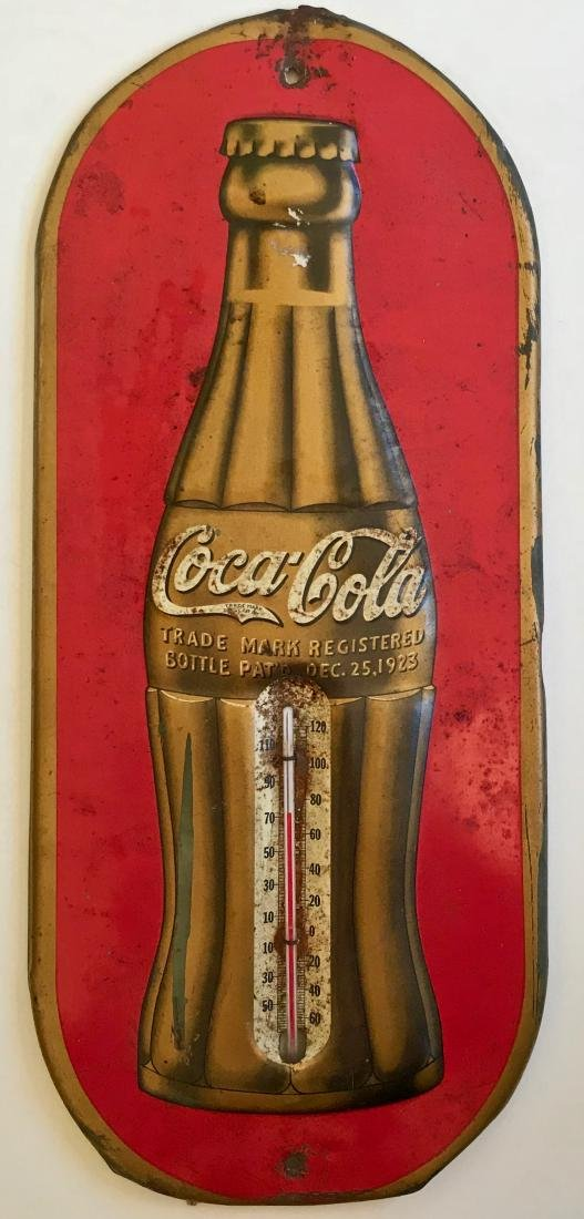 Coca-Cola Metal Thermometer,1936