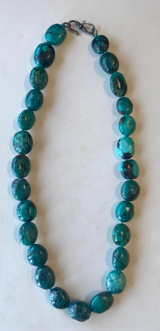 Natural Turquoise Beaded Necklace - 2