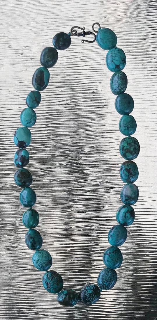 Natural Turquoise Beaded Necklace - 3