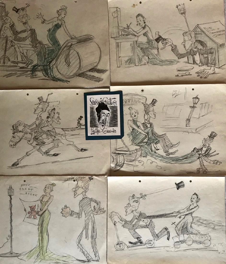 Golden Age Cartoonist Lu Guarnier Drawings (29)