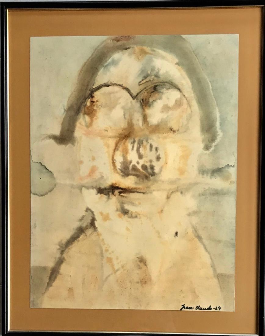 Mid-Century Abstract Watercolor Jean-Claude