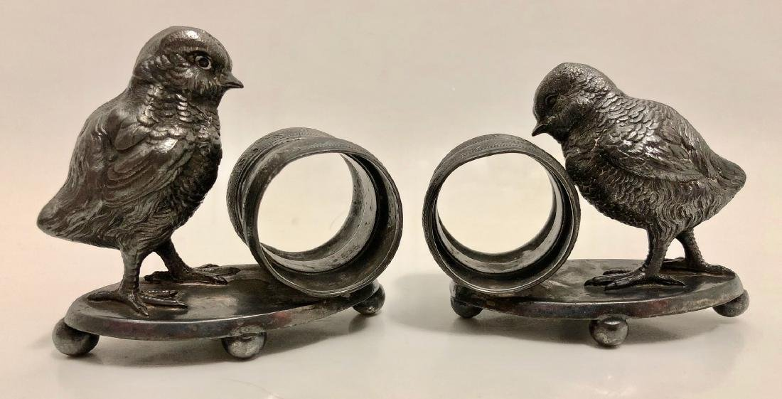 American Silver-Plated Figural Napkin Rings