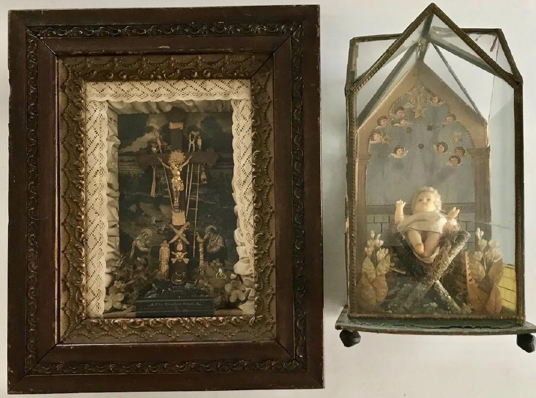Two Victorian Religious Dioramas