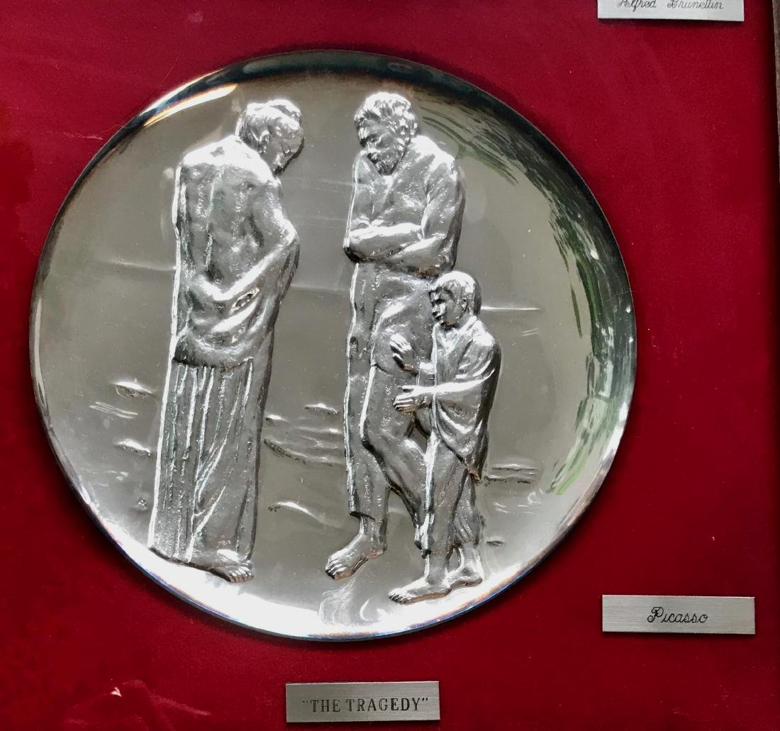 Sterling Silver Tribute to Picasso Art Plates,Brunettin - 3