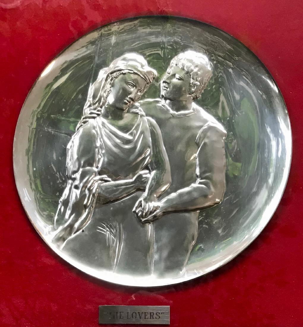 Sterling Silver Tribute to Picasso Art Plates,Brunettin - 4