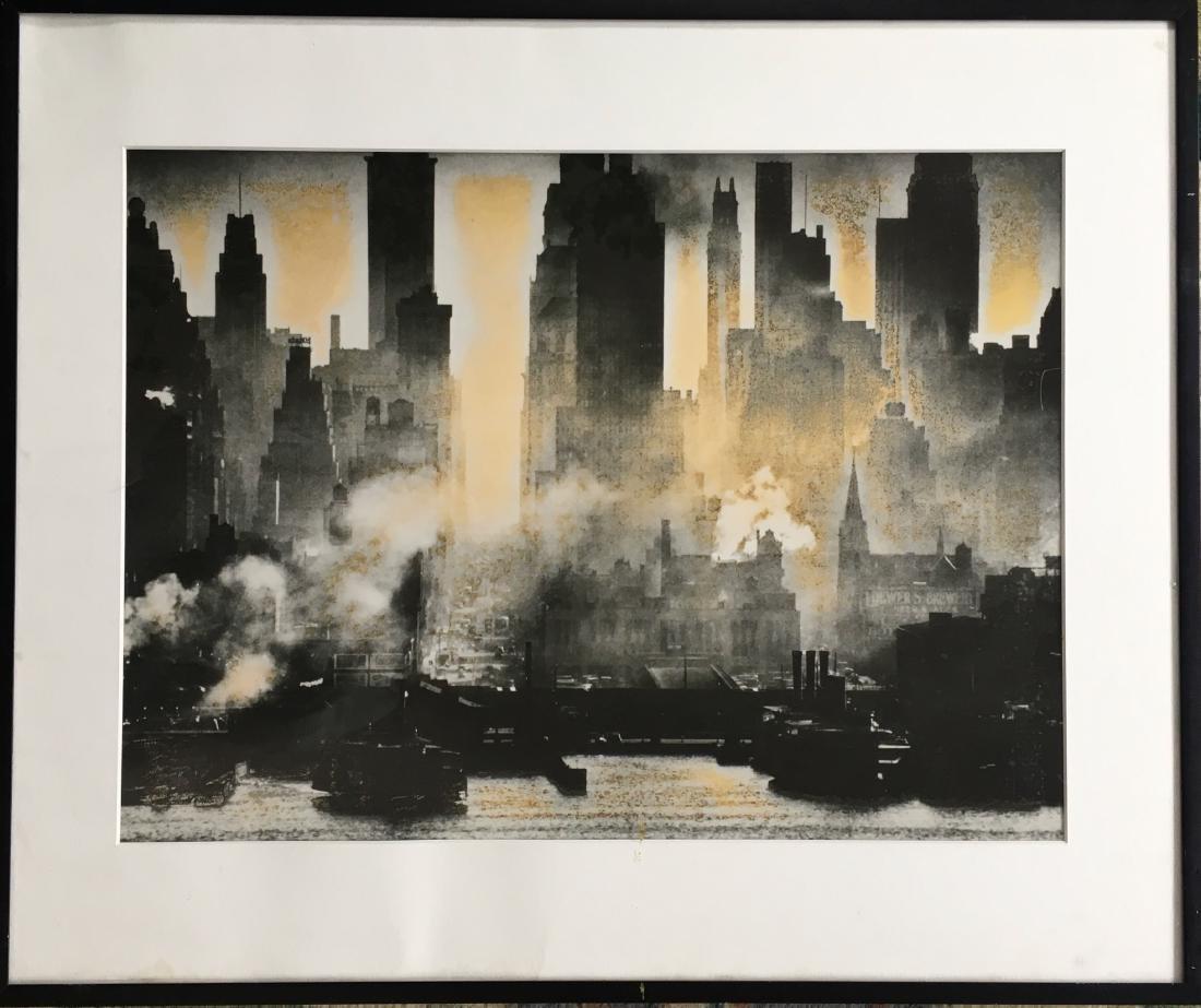 Silver Gelatin Print N.Y.C. Lower Manhattan