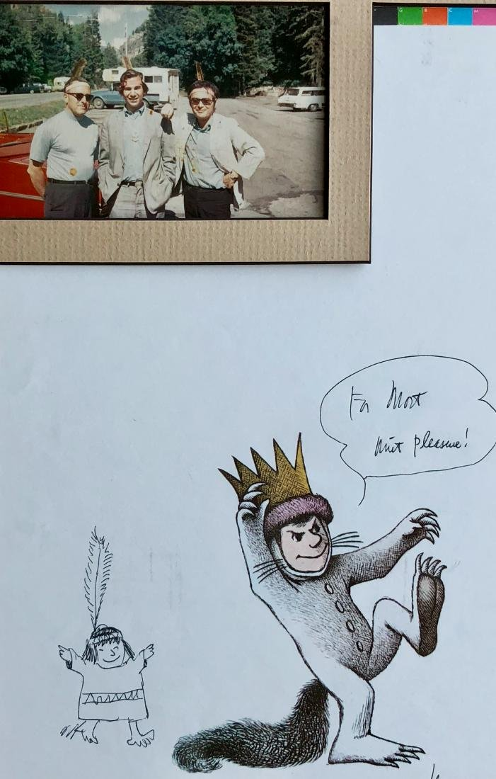Sendak Drawing on Wild Things Proof Sheet W/ Photograph - 6