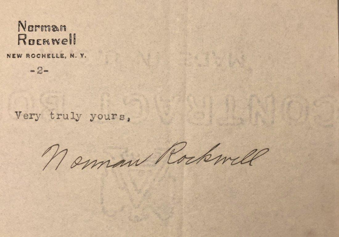 Norman Rockwell Original Hand-Signed Letter 1923 - 2