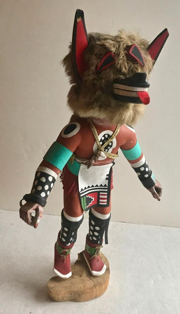 Hopi Carved Wolf Kachina Tony Dukepoo