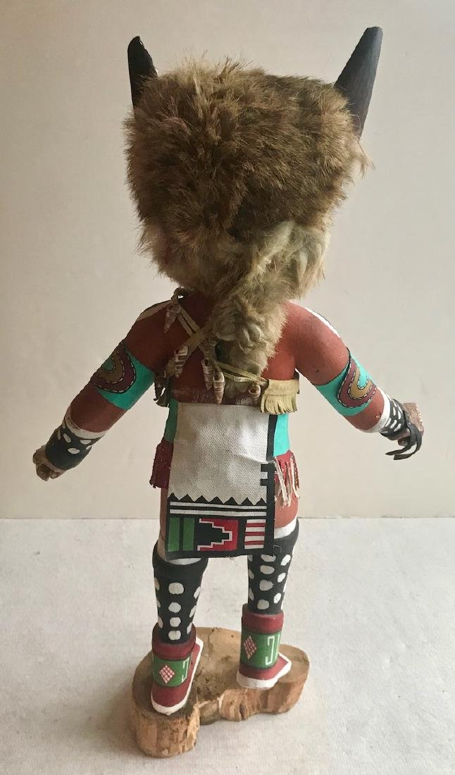 Hopi Carved Wolf Kachina Tony Dukepoo - 4