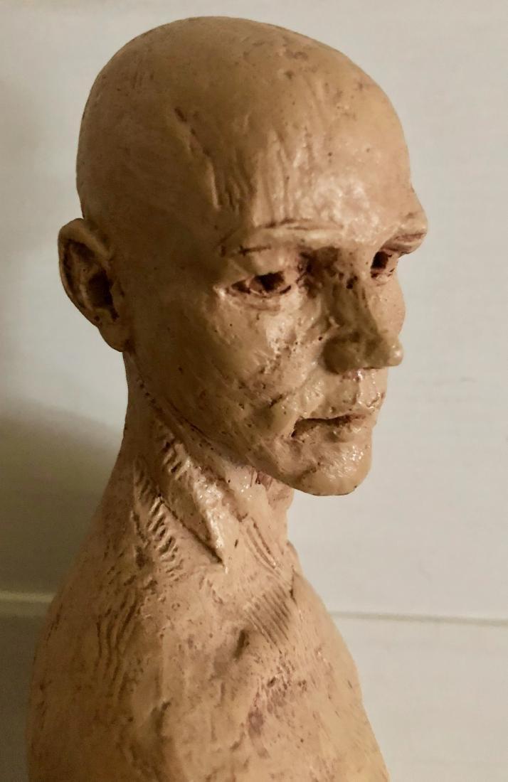 "Mid-Century Male Nude Sculpture Signed 24"" x 8"" - 4"
