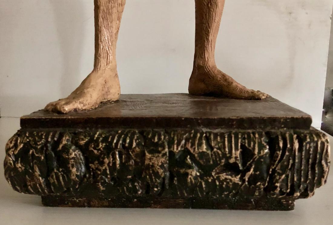 "Mid-Century Male Nude Sculpture Signed 24"" x 8"" - 6"